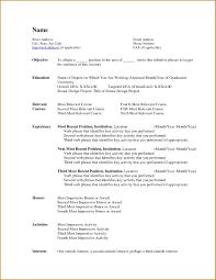 No Work Experience Resume Example Resume Examples No Work Experience Example Of A Resume No Work