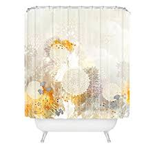 Deny Shower Curtains Amazon Com Deny Designs Iveta Abolina White Velvet Shower Curtain