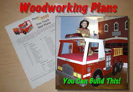 woodworking plan for fire truck bed with full scale curves twin