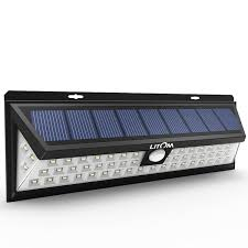 54 led solar lights outdoor waterproof solar power lights with 120