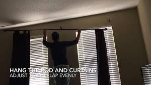 Side Curtain Rods Amazing How To Install Curtain Rod Diy Home Improvements Image For