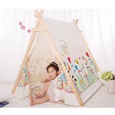 tente chambre fille populaire 100 coton enfant tipi tente tissu tipi tente pour enfants