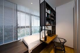 Thomson Modern Condominium Interior Design Bedroom With Study - Modern condo interior design
