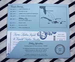 cruise wedding invitations fuchsia royal light blue swirls cruise ship boarding pass