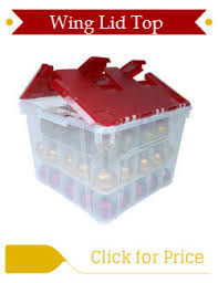 ornament storage box with dividers stones finds