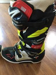 alpinestars tech 7 motocross boots alpinestar tech 7 motocross boots size us 11 uk 10 in basildon