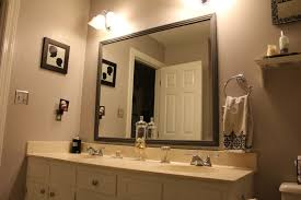 Wood Frames For Bathroom Mirrors Bathrooms Design Large Framed Bathroom Mirrors Oval Mirror