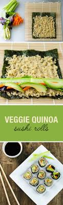 cuisiner sushi veggie quinoa sushi rolls an easy and delicious vegan and gluten