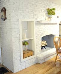 brick fireplace paint color ideas makeover pleasant living room