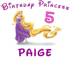 tangled princess rapunzel custom birthday shirt