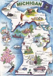 Map Michigan Michigan Deltiolog
