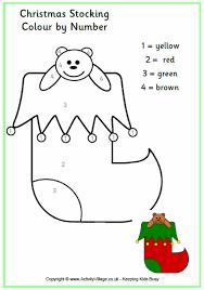 colour numbers christmas stocking christmas