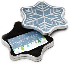 gift card tin from a sparkling snowflake tin to a caroling canines ecard