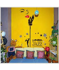 jazz home decor oren empower all that jazz large wall sticker for home decoration