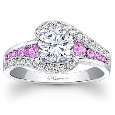 pink wedding rings images Barkev 39 s 14k white gold and pink sapphire halo swirl diamond ring jpg