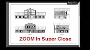 steel building with living quarter plans youtube