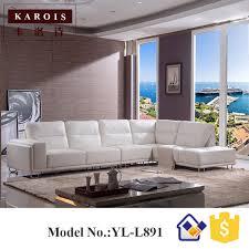 gros canapé l891 usine en gros moderne noir blanc canapé en cuir moderne salon