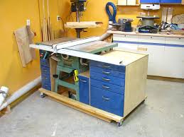 table saw mobile base mobile tablesaw workstation