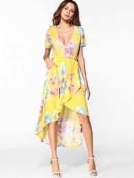 floral print yellow dress fashion shop trendy style online zaful
