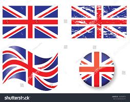 Beitish Flag British Flag Set Stock Vector 166339478 Shutterstock