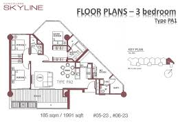Podium Floor Plan by Podium 3 Bedroom Concourse Skyline
