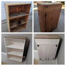 kitchen cabinets from pallet wood repurposed a kitchen cabinet to a shelf topped with