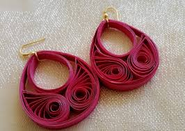 paper ear rings new model quilling papers earring paper earrings tutorial