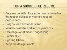 effective professional resume writing
