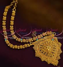 gold short chain necklace images Nl9201 fancy beads emboss designshort necklace gold plated JPG