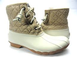 womens sperry duck boots size 9 s sperry top sider shearwater wool duck boots ivory size