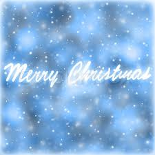 merry greeting card blue abstract background with