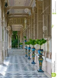 colonial style terrace in colonial style house royalty free stock photo image