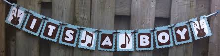 Rock And Roll Party Decorations Its A Boy Rock And Roll Theme Banner Baby Shower Decorations