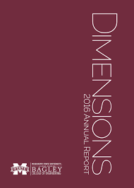 dimensions 2016 annual report by bagley college of engineering