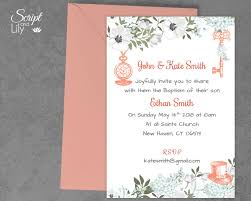 Sample Of Invitation Card For Christening Printable Baptism Invitation Template Alice In Wonderland