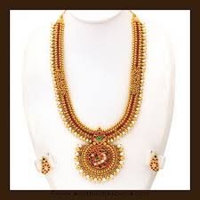 long pearl necklace set images Gold long pearl necklace set from vbj south india jewels jpg
