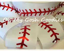 baseball ribbon baseball ribbon etsy