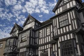 a tudor style building in shrewsbury england stock photo picture