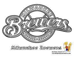 milwaukee brewers baseball coloring pages book for bebo pandco