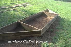 Building A Raised Vegetable Garden by Building A Plant Holding Bed Growing The Home Garden