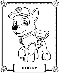 paw patrol coloring pages flying chase coloring
