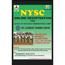 nysc batch b 2017 mobilization registration timetable orientation
