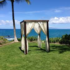 Bamboo Wedding Arch Maui Canopies U0026 Furniture Rental Island Rents Maui
