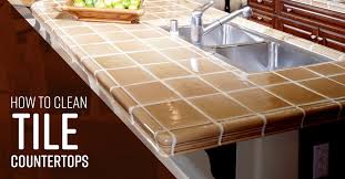 can you use to clean countertops how to clean tile countertops simple green