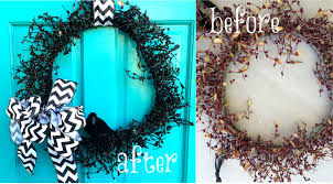 Halloween Wreaths For Sale Garage Sale Halloween Wreath Diy