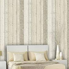 reclaimed wood panel effect faux wallpaper beige full roll