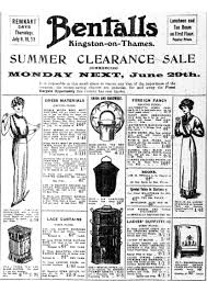 summer clearance sale at bentalls kingston on thames surrey