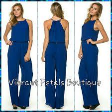 royal blue jumpsuit royal blue jumpsuit s or m from latoria s closet on poshmark