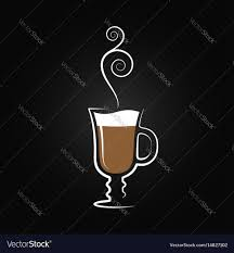 latte logo coffee cup design background royalty free vector