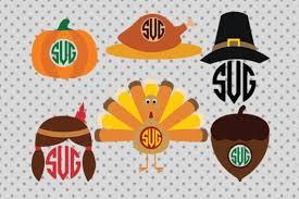 thanksgiving monogram thanksgiving svg thanksgiving monogram